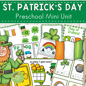 St. Patrick's Day Preschool and Kindergarten Mini Unit Activities