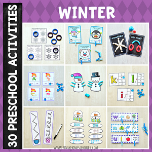 Winter Preschool Math and Literacy Pack