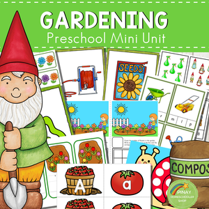 Gardening Themed Preschool Kindergarten Mini Unit