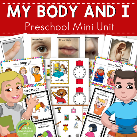 My Body and I Preschool Mini Unit