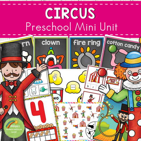 Circus Themed Preschool Mini Unit Activities