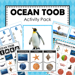 Safari Toob Ocean Preschool Kindergarten Activity Pack