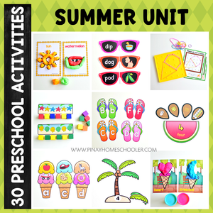 Summer Preschool Math and Literacy Pack