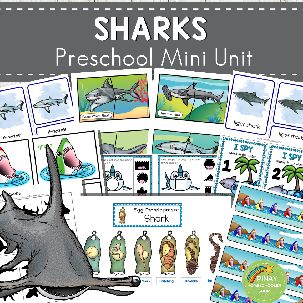 Sharks Preschool Mini Unit Activities