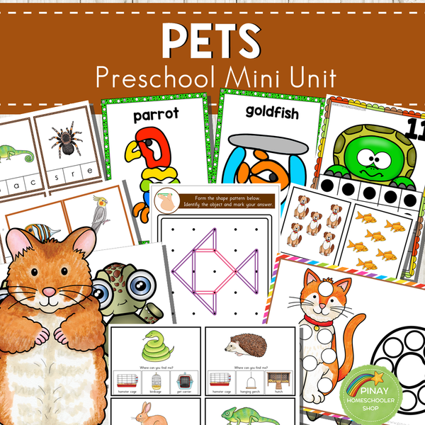 Pets Themed Preschool Kindergarten Mini Unit