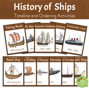 History of Ships - Timeline and Ordering Activities