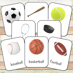 Montessori Sports Toob 3 Part Cards