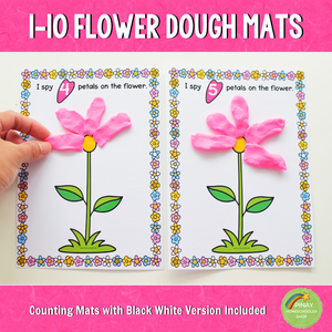 1-10 Flower Counting Playdough Mats
