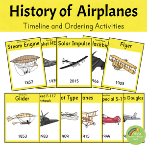 History of Airplanes - Timeline and Ordering Activities