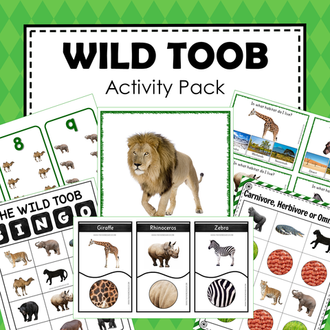 Safari Toob Wild Animals Preschool Kindergarten Learning Pack
