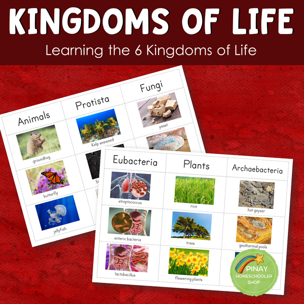 Montessori 6 Kingdoms of Life Learning Pack
