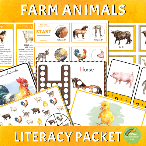 Montessori Farm Animals Literacy Packet