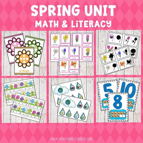 Spring Preschool Math and Literacy Pack