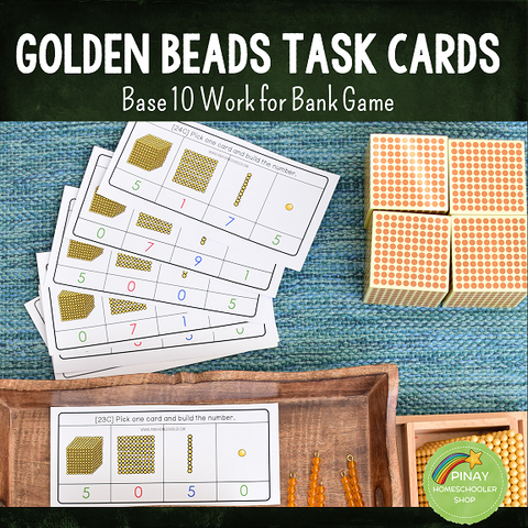 Montessori Golden Beads (Base 10 ) Task Cards