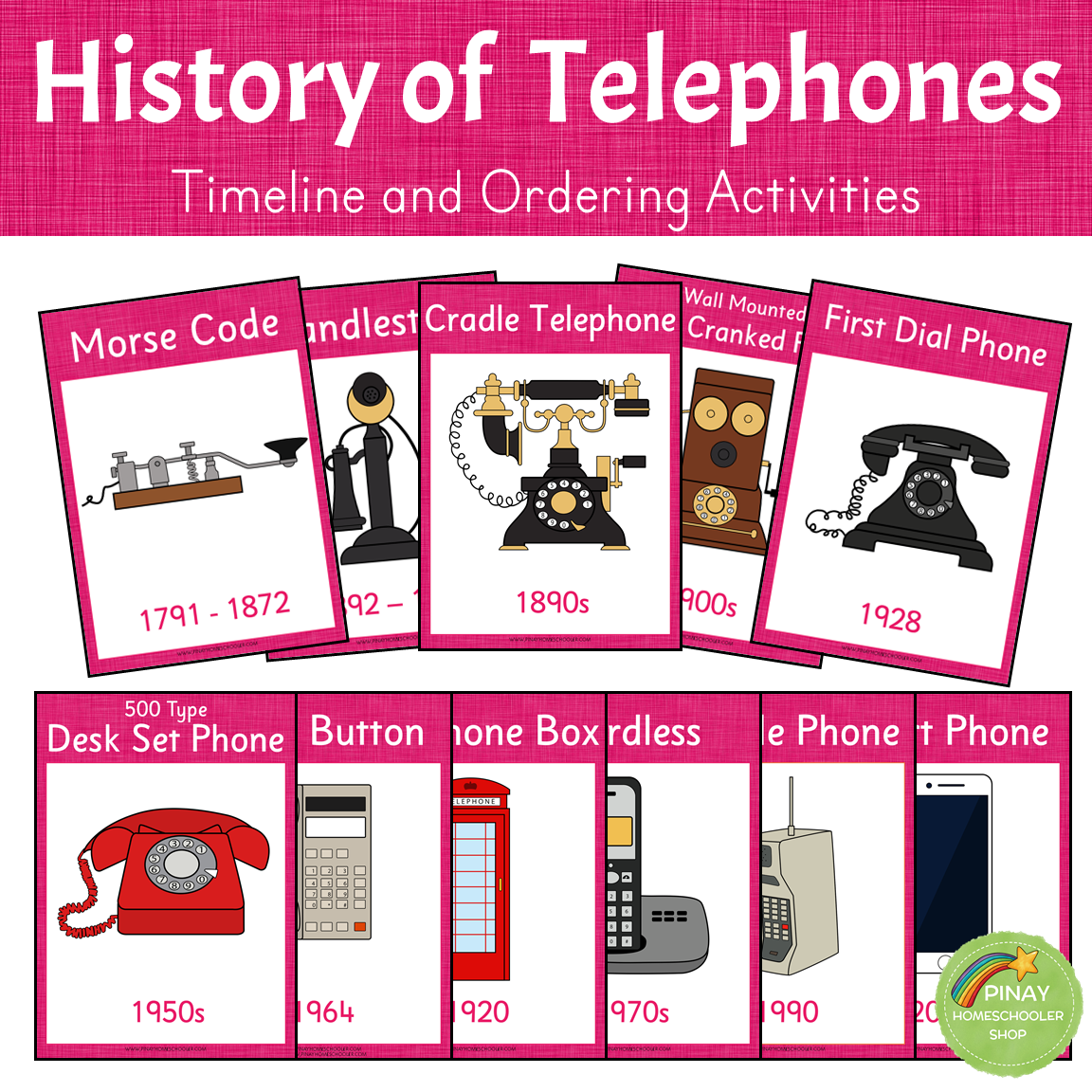 History of Telephones - Timeline and Ordering Activities