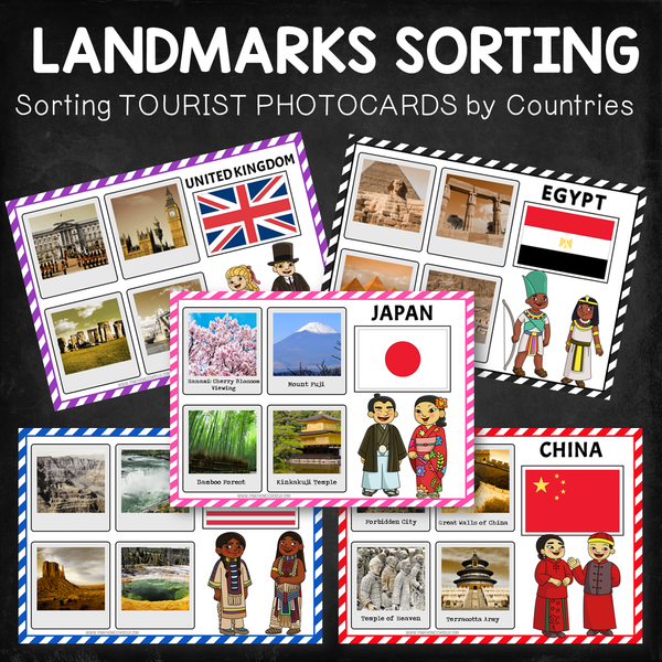 Landmarks Photocards Sorting Activity (by Countries)