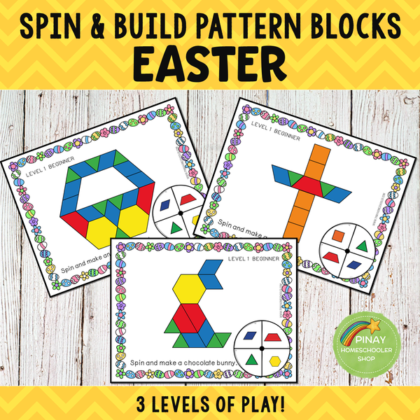 Easter Pattern Blocks Spin and Build