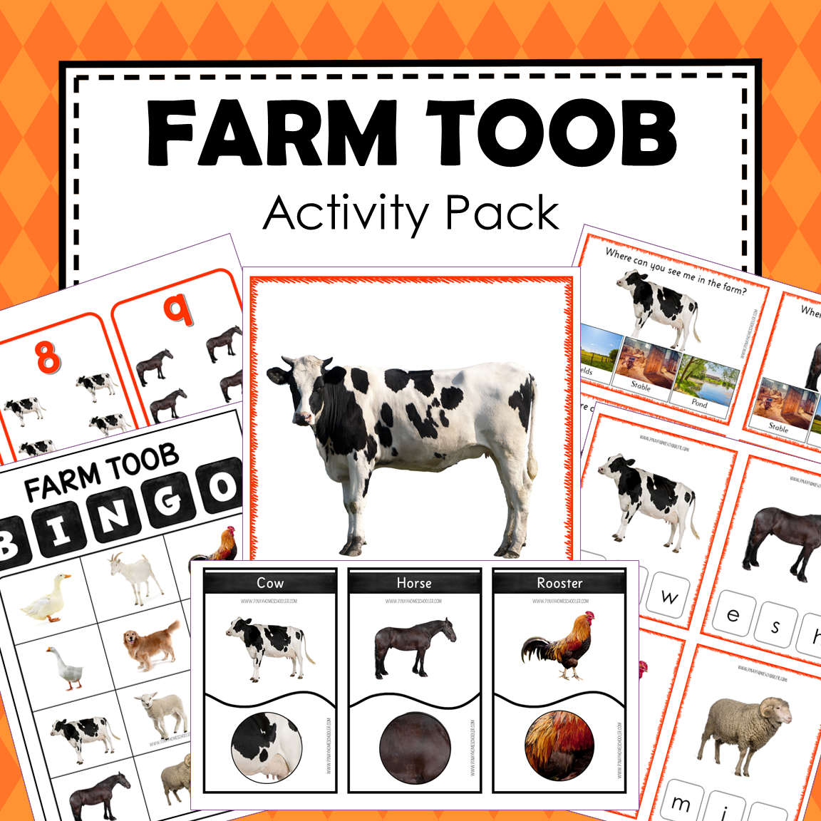 Safari Toob Farm Preschool Kindergarten Activity Pack