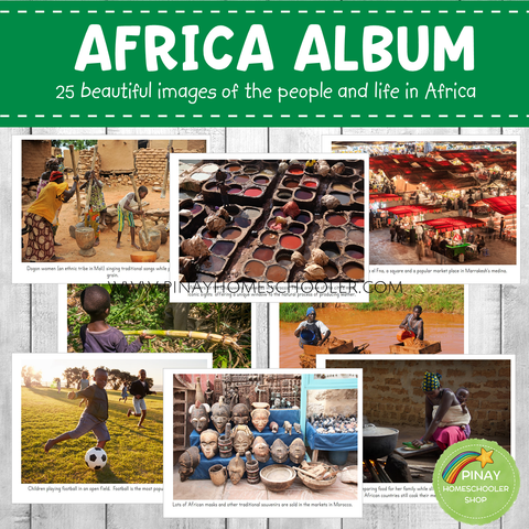 Africa Montessori Geography Folder - Photos