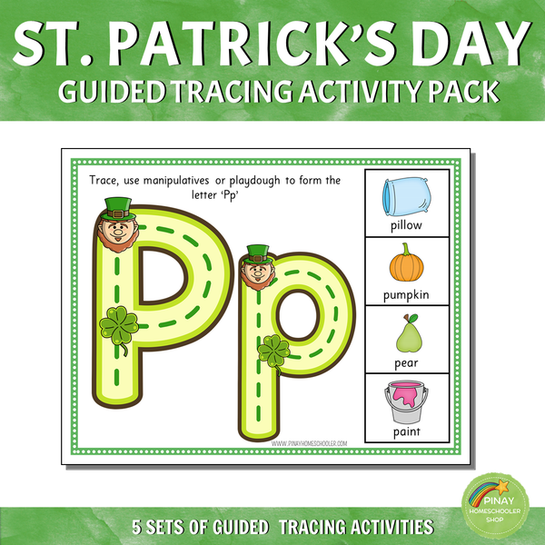 St. Patrick's Day Guided Tracing Activity Pack