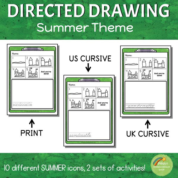 Directed Drawing - Summer Theme