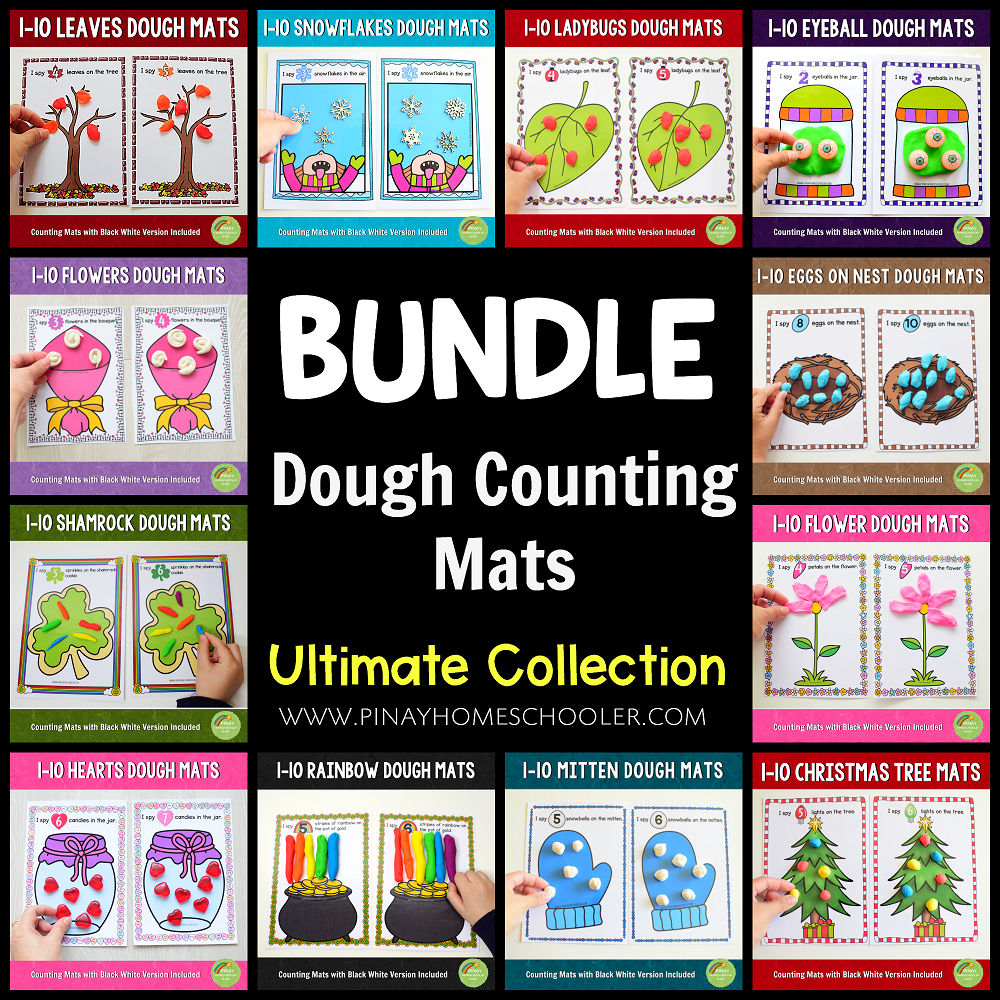Ultimate Counting Mats (Playdough) Series (Growing BUNDLE)