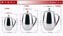 350/750/1000ml Stainless Steel Drum Shape Press Pot
