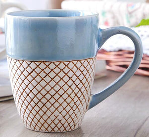 Hand Painted Ceramic Bone Coffee Cups
