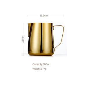 Stainless Steel Milk frothing Jug Golden Color