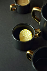 Black Golden Ceramic Coffee Mug