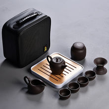 10 pieces Chinese Travel Ceramic Portable Tea Set