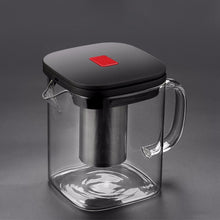 Square Glass Teapot with Infuser