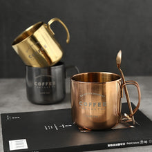 Double Titanium - Gold Plated - Rose Silver - Stainless Steel Coffee Mugs