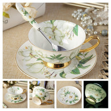 Noble Bone China Coffee Cup Saucer Spoon Set