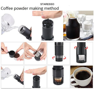 Second Generation 15 bar Italian Concentrate Portable Coffee Machine (Capsule or coffee powder)