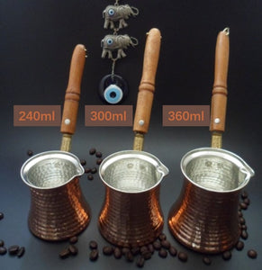 Turkish Coffee Pot Cezve Wooden Handle