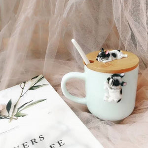 3D Cartoon Cute Dog Ceramic Mugs