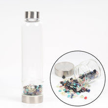 Natural Quartz Crystal Glass Water Bottle Gravel Irregular Stone Cup
