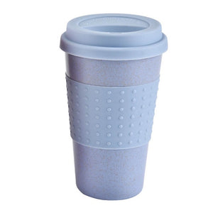New Plastic Wheat Straw Travel Coffee Mugs With Travel Lid