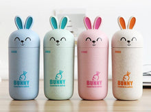 Wheat Straw Rabbit Lovely Portable Travel Mugs