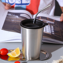 500 ml Stainless Steel Coffee Mug With Straw