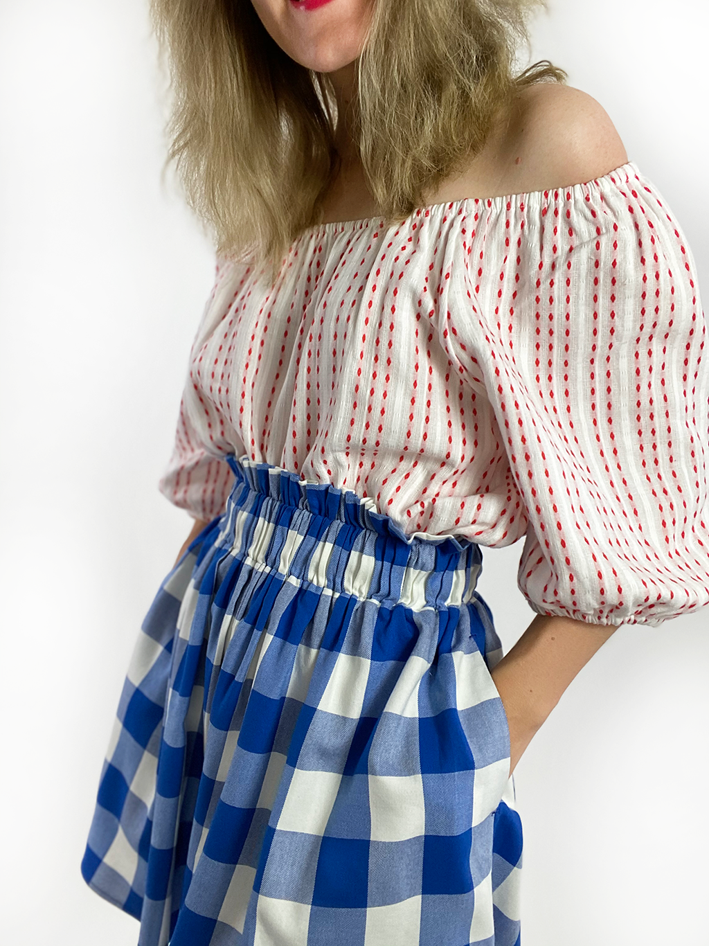 Buffalo Check Split Skirt - In Stock