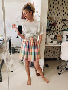 Rainbow Check Skirt - In Stock