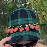 Mrs Emily Green Plaid Acorn Cap