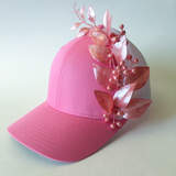 Mrs Emily Pink Leaves Cap
