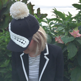 Mrs Emily Black and White Sweater Cap