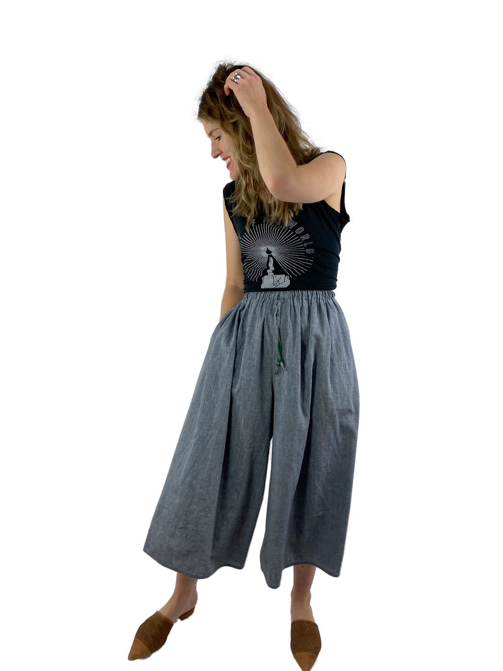 Bangladesh Chambray Midi (Split Skirt)