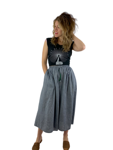 Bangladesh Chambray Midi (Skirt)