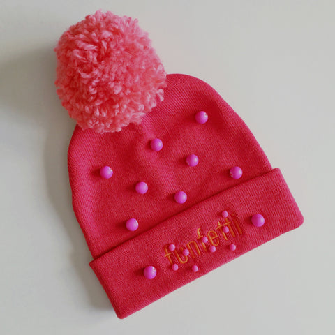 Funfetti Stocking Cap - red