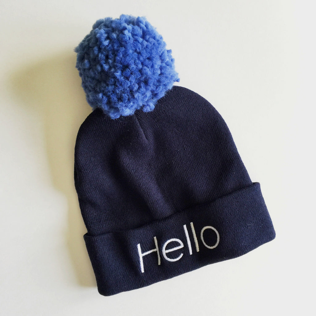 HELLO Stocking Cap - navy